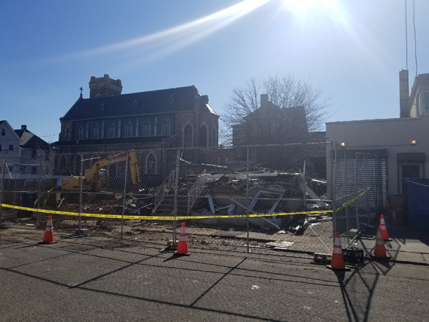 The remains of 109 Commerce Street.