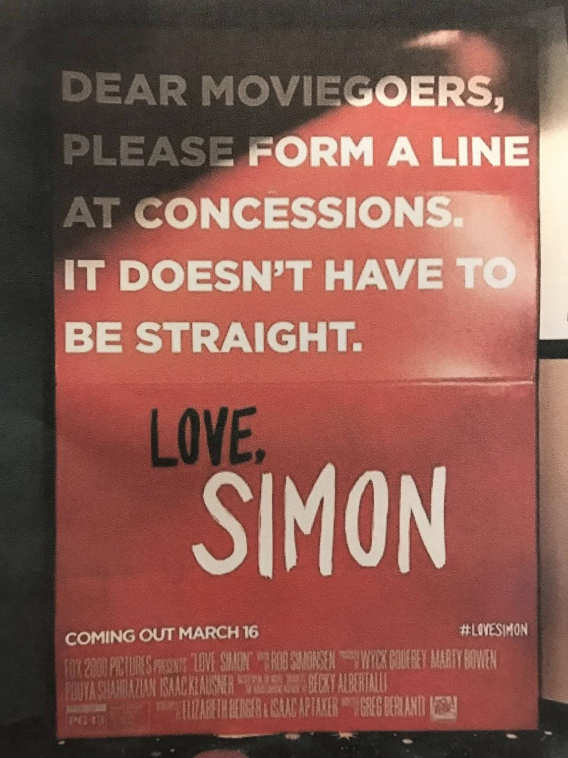 One of the many promotional posters for Love, Simon.