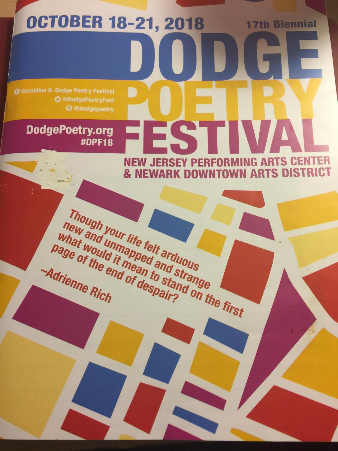 The poetry festival's pamphlet