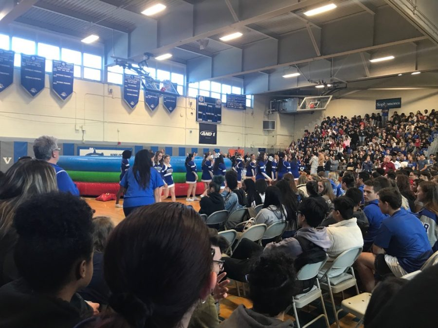 Students joust at winter pep rally