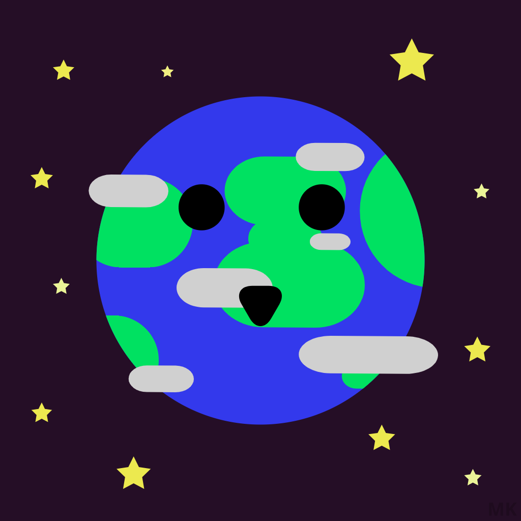 Flat design art made for Earth Day 2019 by Mueez Khan.