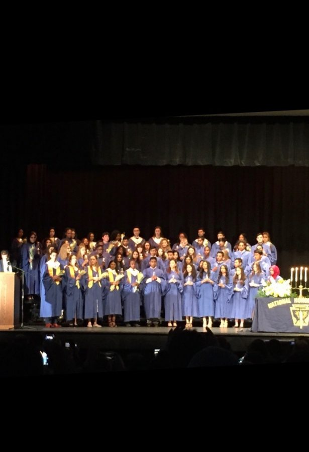 NHS induction celebrates student achievement