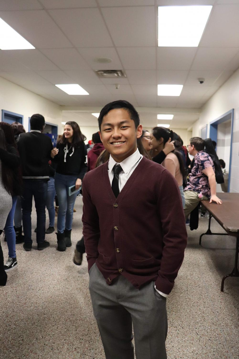 The current Junior Class President Christian Quilon running for three years and counting.